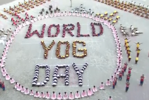 World yoga day Gujarat headline